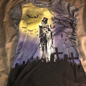 Gothic skeleton shirt